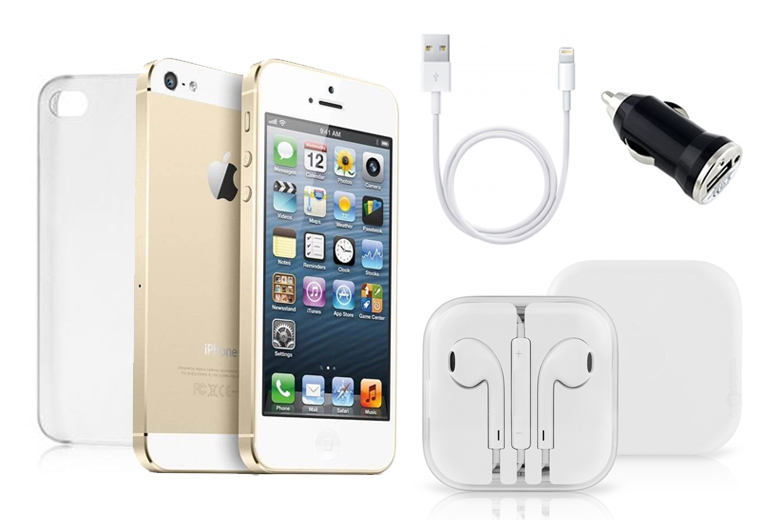 16GB Apple iPhone 5s with Accessory Kit – 3 Colours! for £129