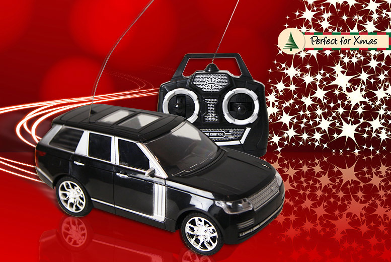 Radio Controlled Battery-Operated SUV – 3 Colours! for £9.99
