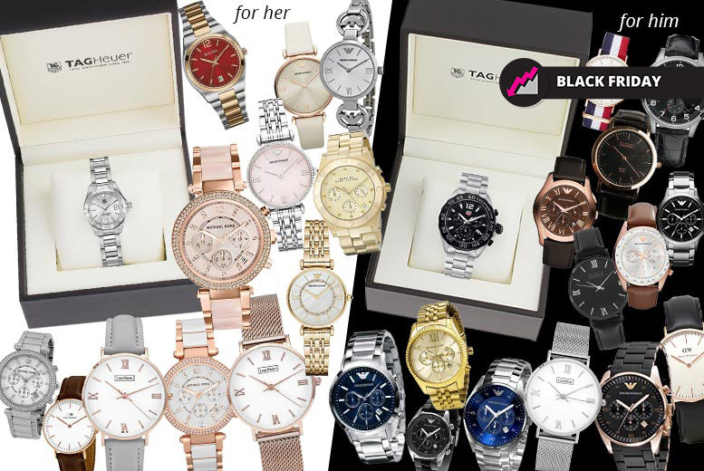 Luxury Mystery Watch Deal - Tag Heuer, MK, Armani, L. Henry & More!
