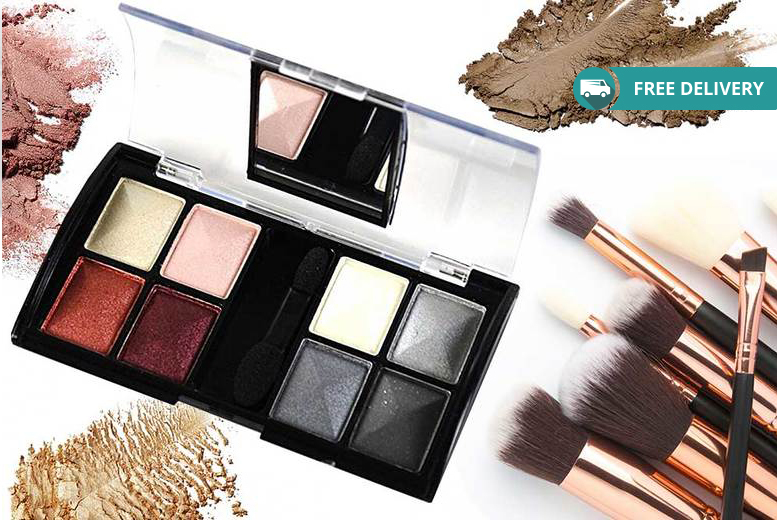 8-Colour Compact Mirror Eyeshadow Palette – 5 Options! for £5