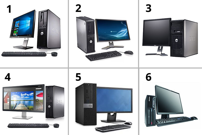 Clearance Dell Optiplex or Lenovo Desktop Computer 320GB HDD 4GB RAM – 6 Options! for £119
