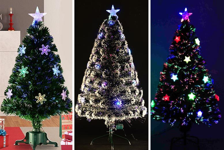 Artificial Christmas Tree – 3 Styles & 3 Sizes! from £19