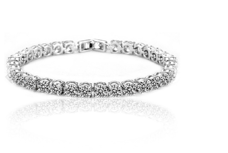 Round Cubic Zirconia Tennis Bracelet! for £12