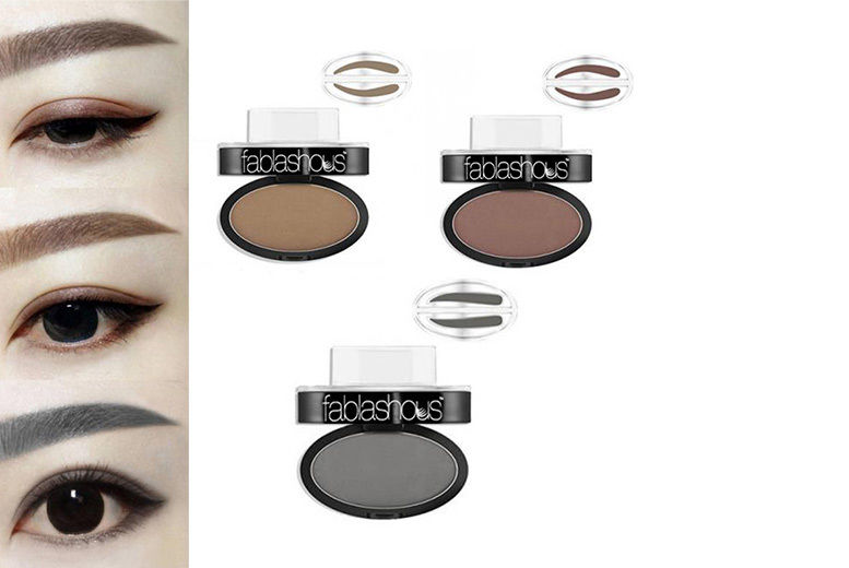 Fablashous 'Stamp It' Eye Brow Stamp & Powder Set – 3 Colours & 2 Shapes! from £6