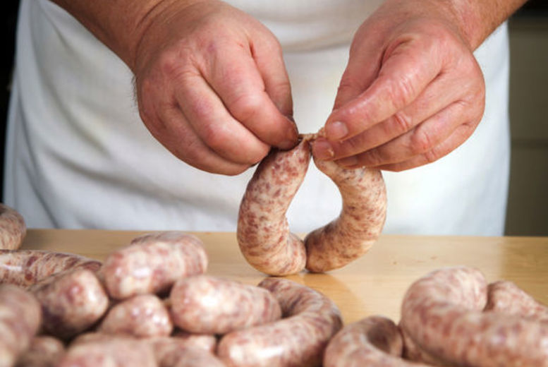 £19 instead of £89 for a sausage making class for one person, £35 for two people at Northumberland Sausage Company, Corbridge - save up to 79%