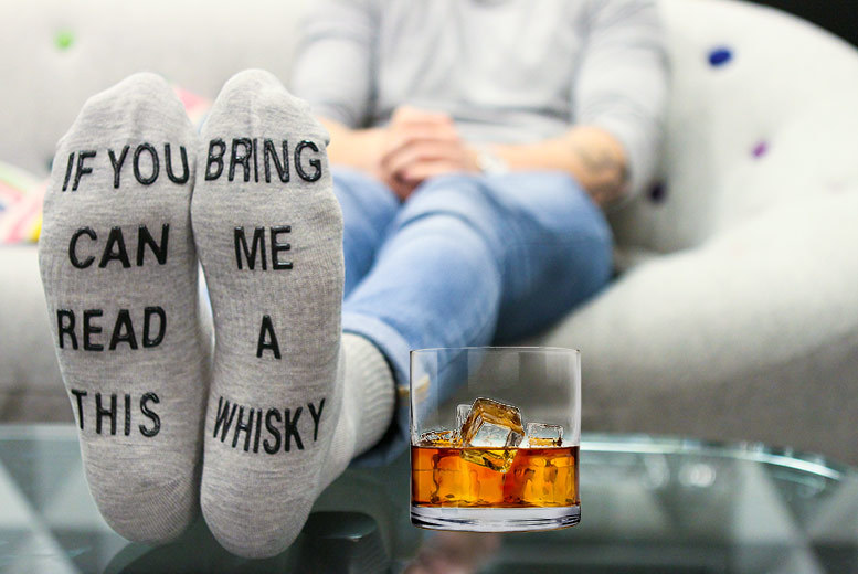 'Bring Me a Whisky' Socks for £2.99