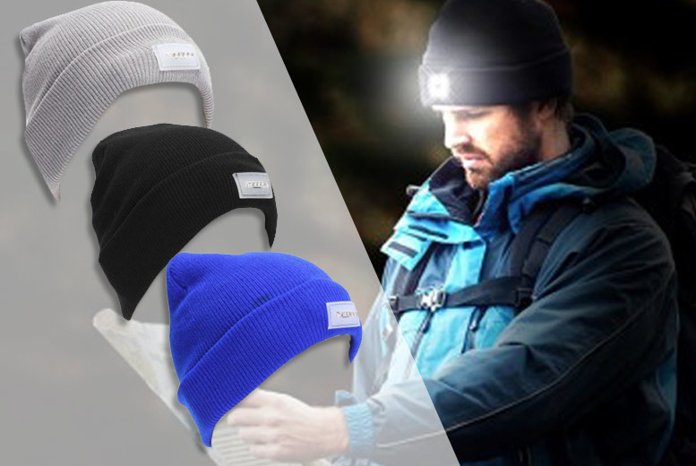 LED Beanie Hat – 3 Colours! for £6.99