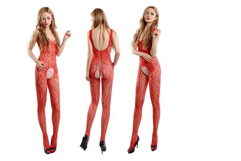 Red Crotchless Bodystocking Lingerie for £7.99