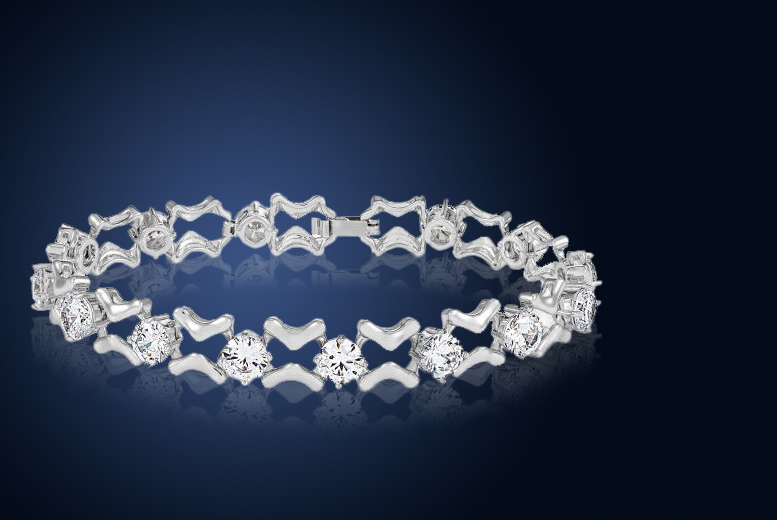 Simulated Sapphire Multi Linked Bracelet for £12