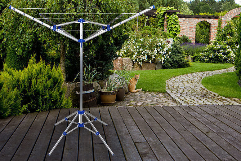 15m Portable Rotary Washing Line – Indoor & Outdoor! for £16