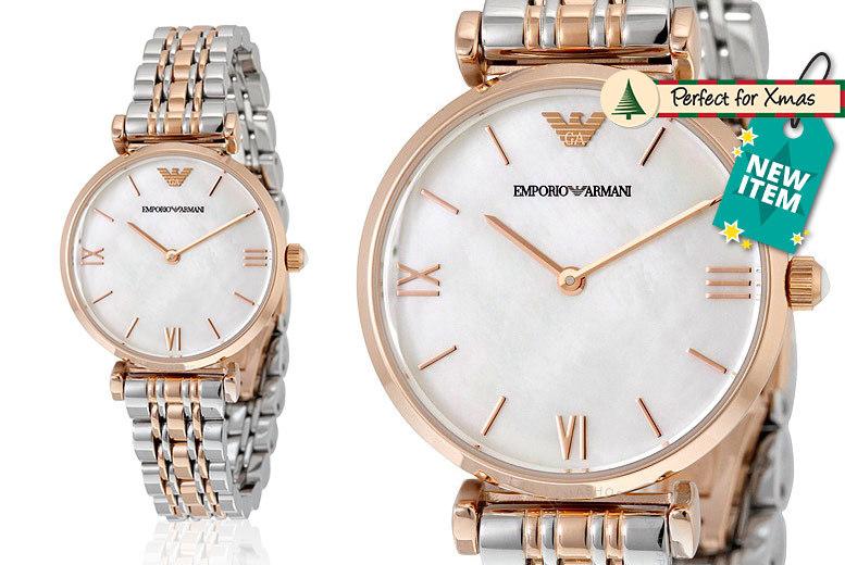 Ladies' Emporio Armani 2-Tone Watch