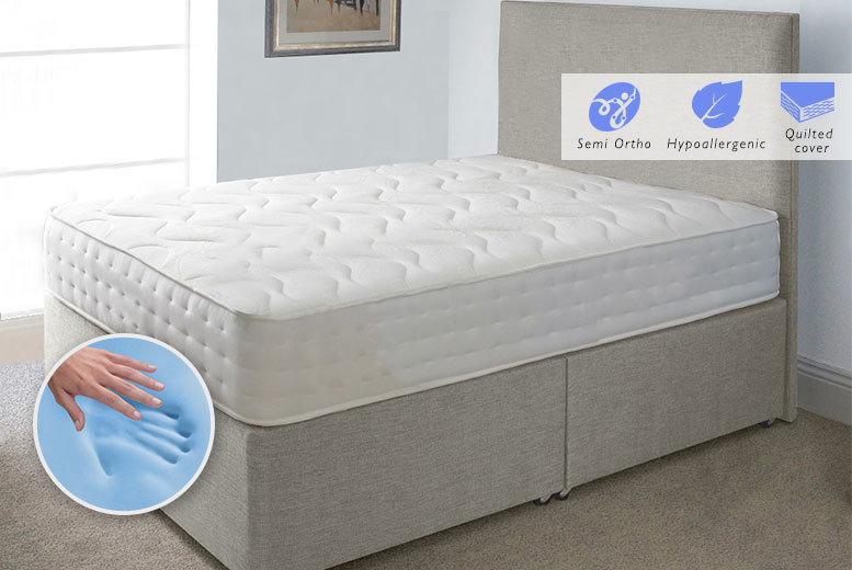Evolution CoolBlue Memory Sprung Mattress - 4 Sizes!
