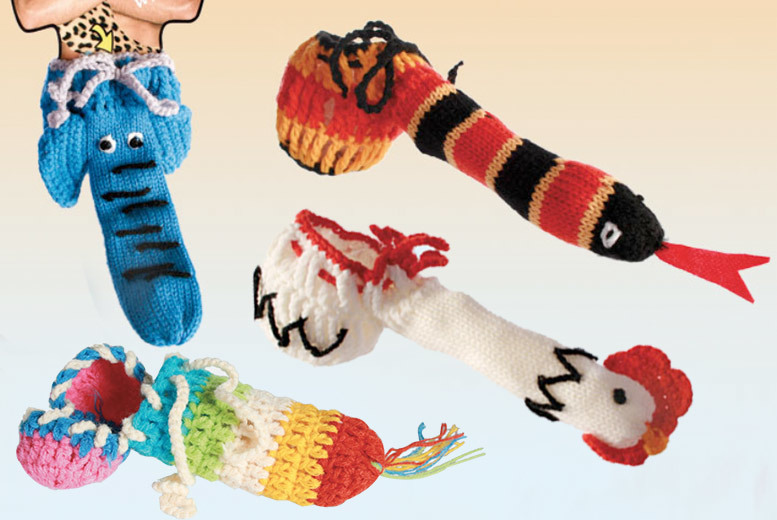 1 or 3 Knitted Willy Warmer – 4 Designs! from £4.95