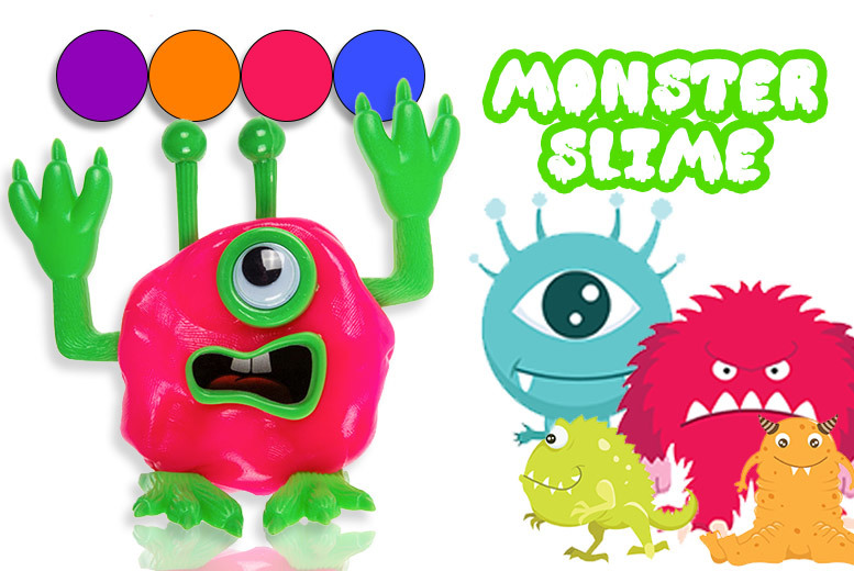 1 or 2 Tubs of DIY Monster Putty – 4 Colours! from £3.99