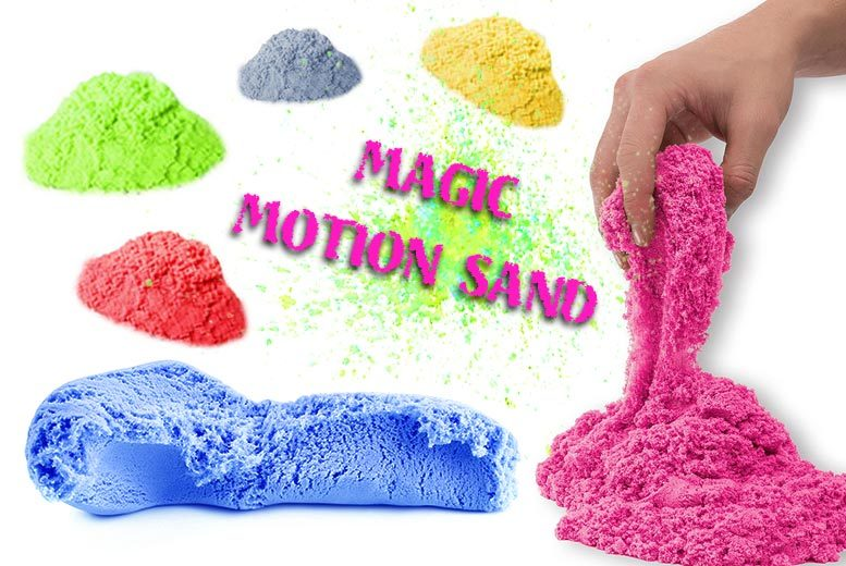 Magic Motion Kinetic Sand 900g – 6 Colours! for £4.99