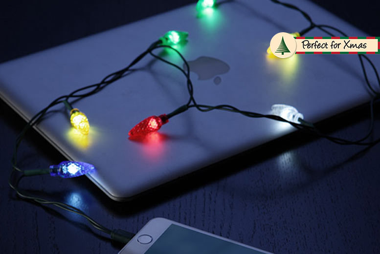 Xmas Lights iPhone Charging Cable for £7.99