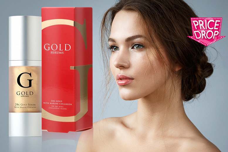 24k Gold Marine 'Anti-Ageing' Collagen Face Serum for £11.99