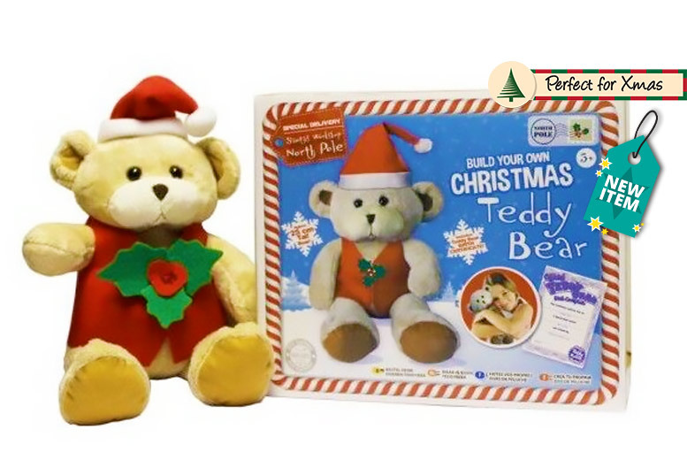 Build Your Own Christmas Teddy Bear for £8