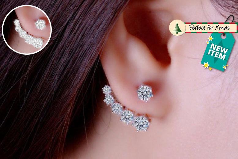 Crystal Jacket Earrings
