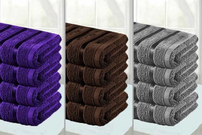 4 Jumbo Egyptian Cotton Bath Sheets – 11 Colours! for £16.99