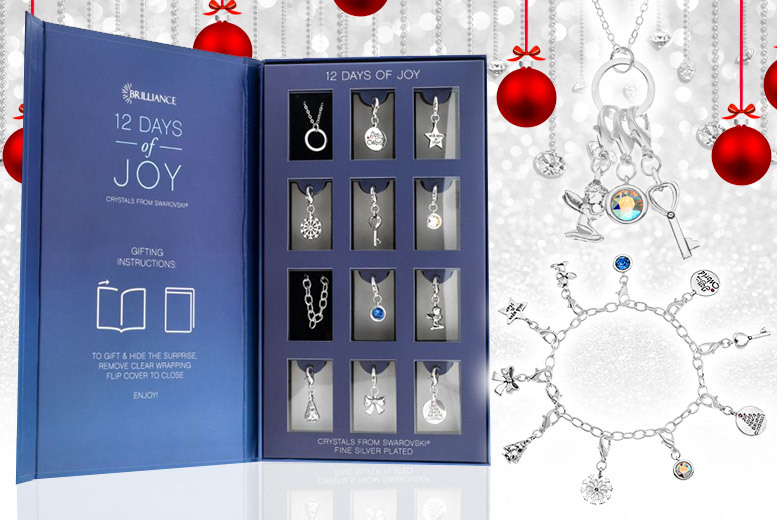 12 Days of Joy Gift Box Made with Crystals from Swarovski® for £19