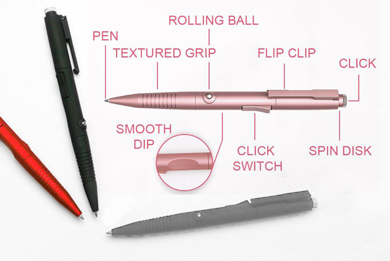 Stress-Relieving' Finger Fidget Pen – 5 Colours! for £5.99