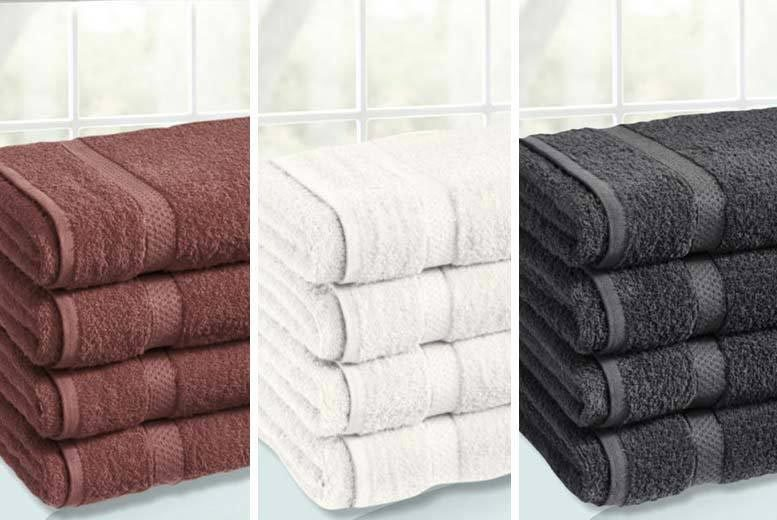 4 Egyptian Cotton Bath Sheets – 12 Colours! for £14.99