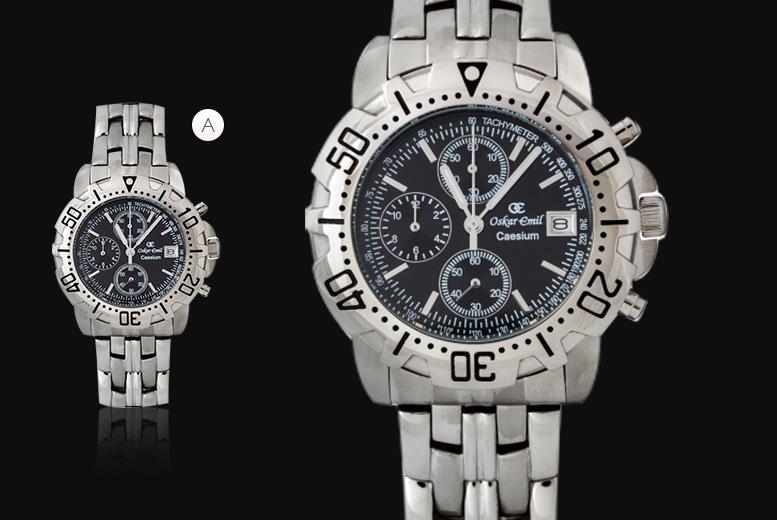 Men's Luxury Oskar Emil Caesium Stainless Steel Watch - 3 Designs!