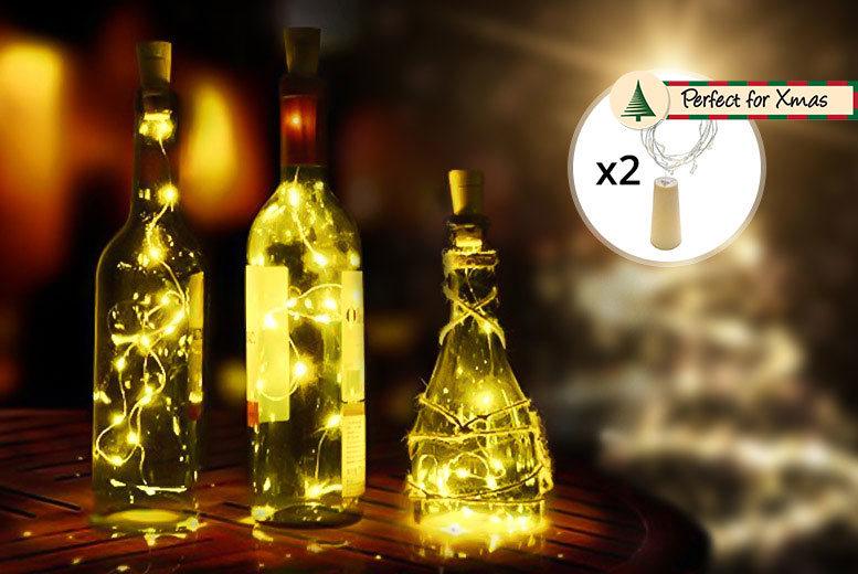 2pc Christmas LED Bottle Decorative Lights for £3.99