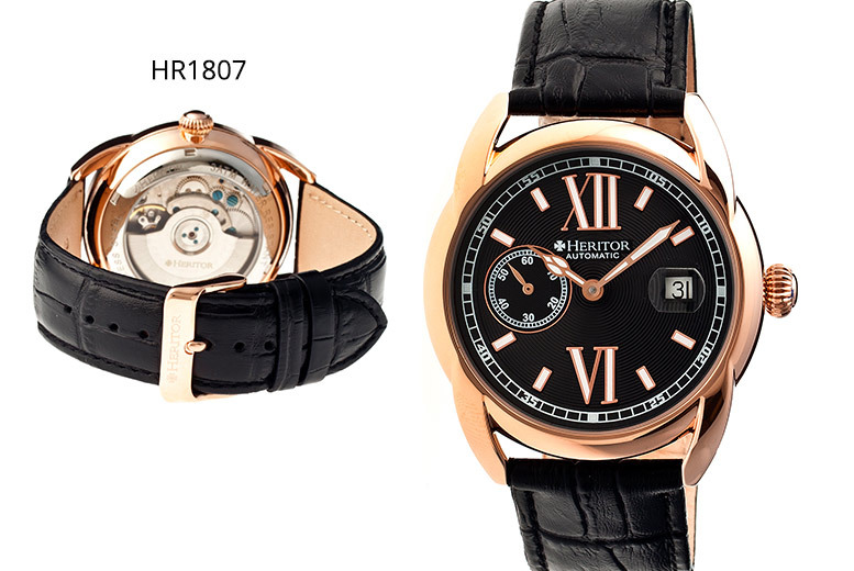 Men's Luxury Heritor Automatic 'Burnell' Watch - 8 Designs!
