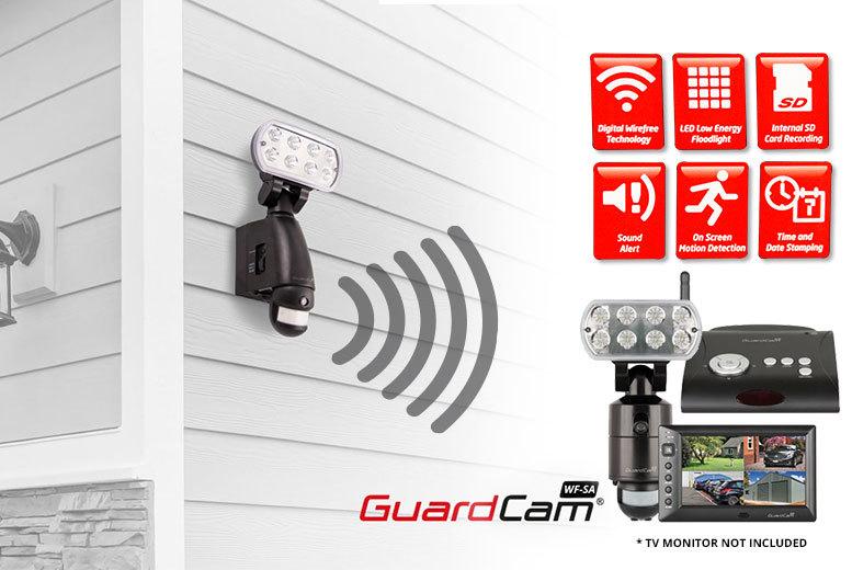ESP GuardCam WF-SA Wireless Combined LED Floodlight Camera with Standalone Receiver for £144