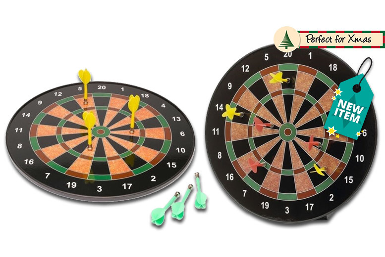 Magnetic Dart Board with 6 Darts – 16″ or 18″! from £9.99