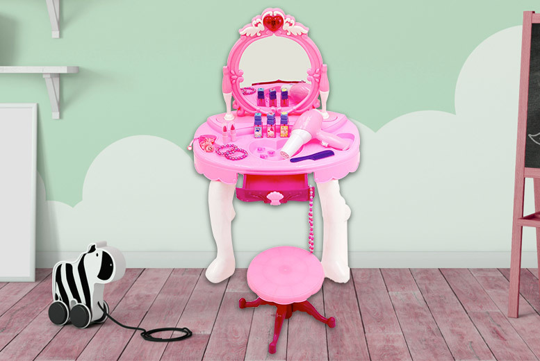 Kids' Dressing Table & Glamour Mirror Play Set for £19