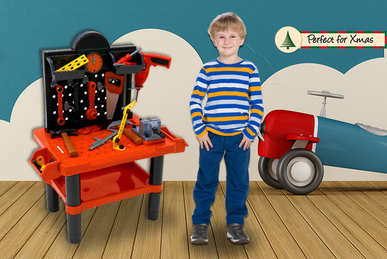 Kids' Work Bench & Toolkit Play Set for £17.99