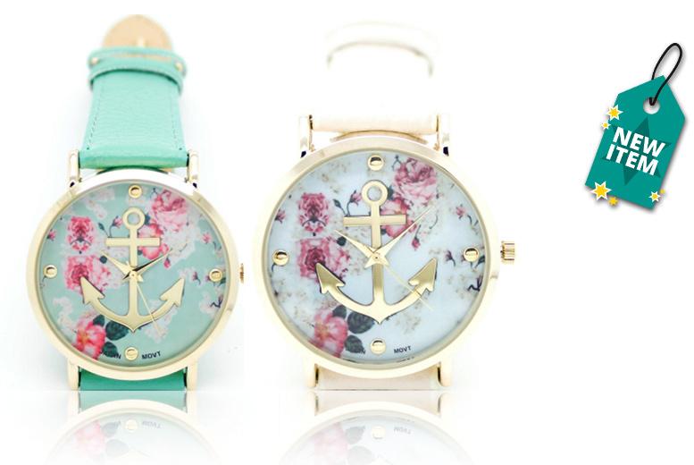 Floral Anchor Watch - 2 Designs