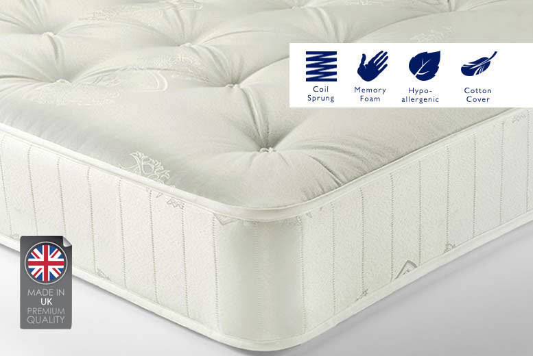Sleep Sweet Soft-touch Memory Foam Sprung Mattress - 2 Sizes!