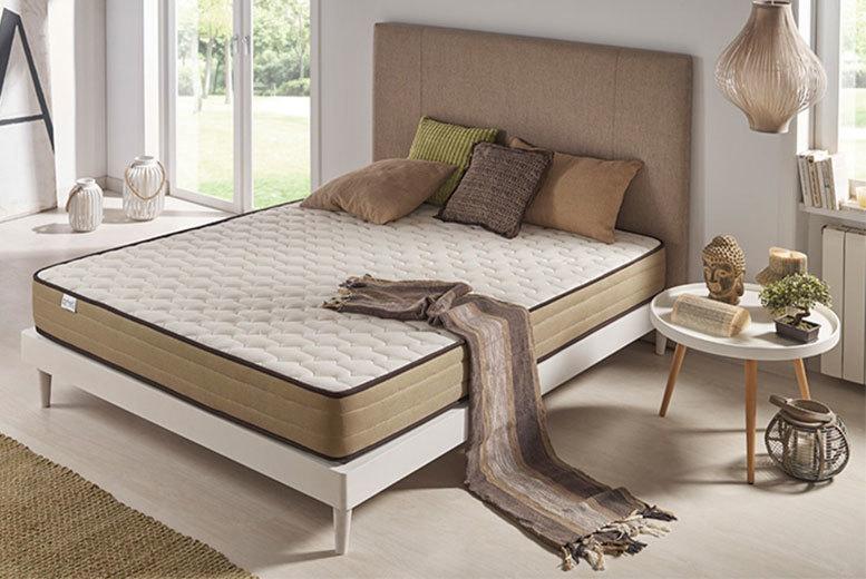 Luxury Memory Foam Bronze-Threaded Natural Bamboo Mattress - 3 Sizes!