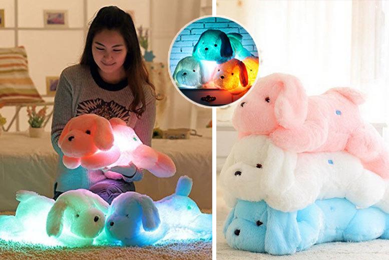 Super-Soft Plush LED Dog – 3 Colours! for £7.99