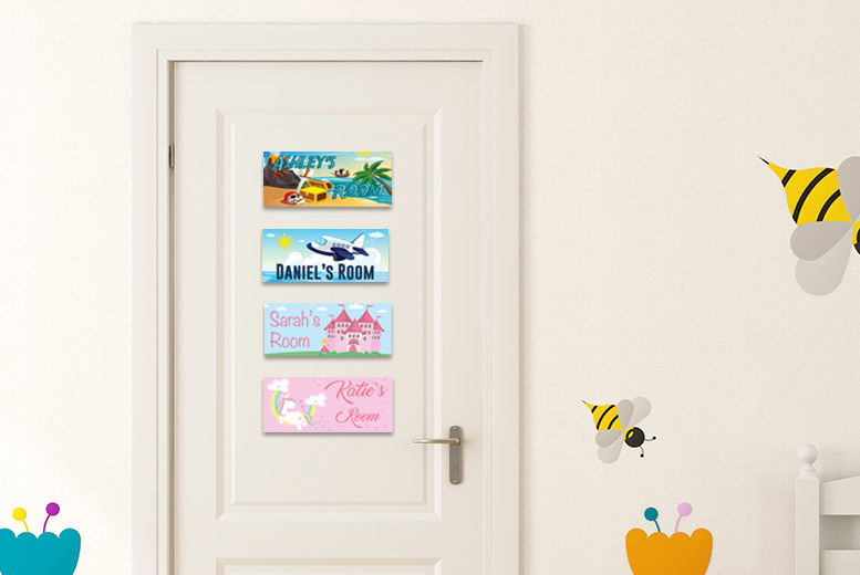 Personalised Kids Bedroom Plaque for £4.99