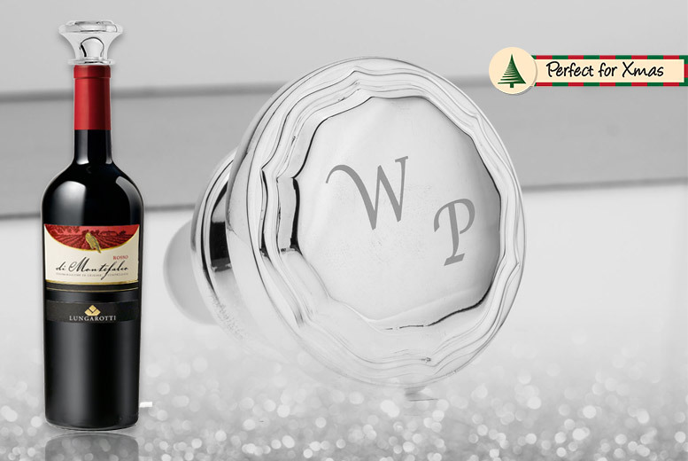 Personalised Silver-Plated Wine Stopper for £9.99