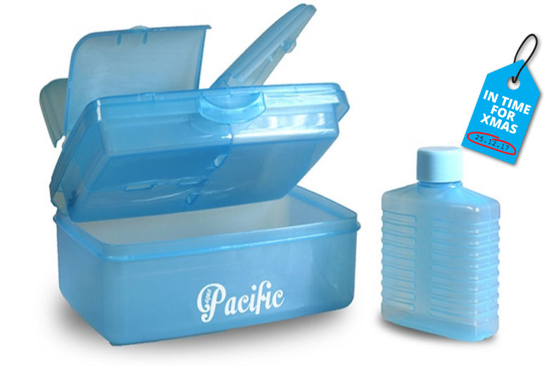 Four Compartment Lunch Box & Bottle – 2 Colours! for £5.99
