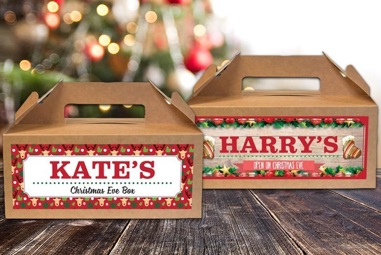 Personalised Cardboard Christmas Eve Box – 4 Designs! for £3.99
