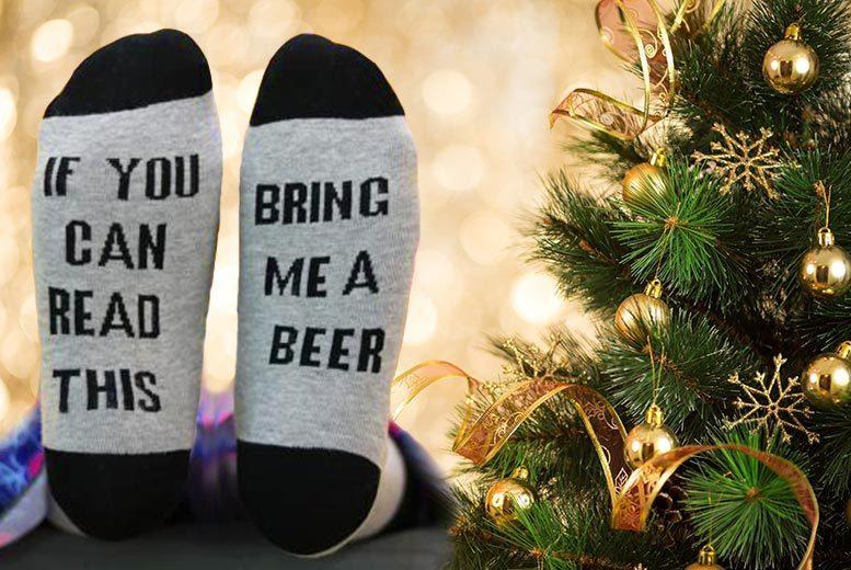 Bring Me A Beer' Socks for £2.99