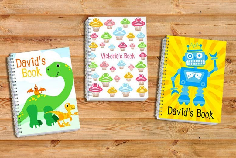 Personalised Kids Sketch Book for £4.99