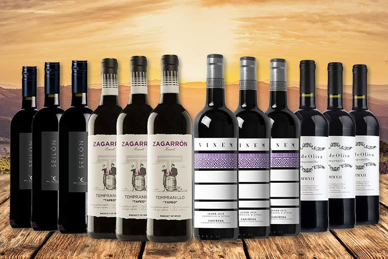 In the Red Tonight' Wine Selection – 12 Bottles! for £49.99