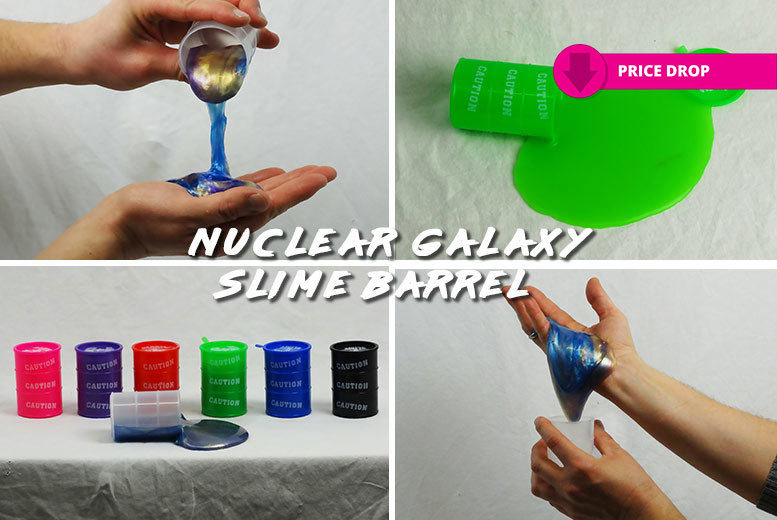 Nuclear Galaxy Slime Barrel – 9 Colours! for £3.99