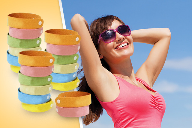 £6 instead of £49 (from 121 Mart) for a pack of 20 mosquito-repelling bracelets in a range of colours - save 88%