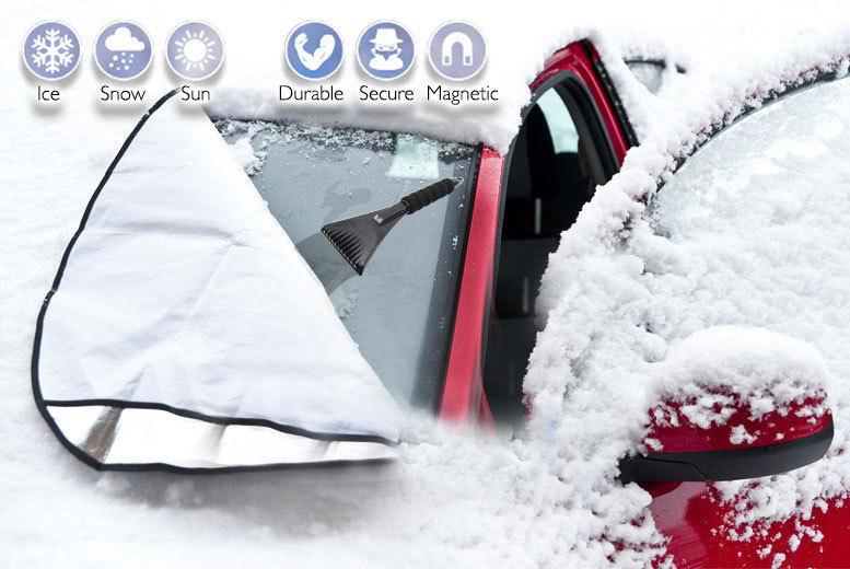 Magnetic Car Windscreen Cover and Ice Scraper for £5.99