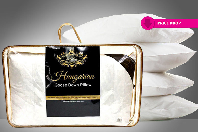 1 or 2 Luxury 100% Hungarian Goose Down Pillows