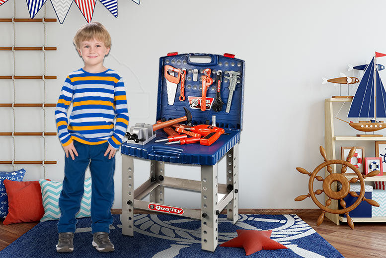 Children's Toy Work Bench & Tool Kit for £14